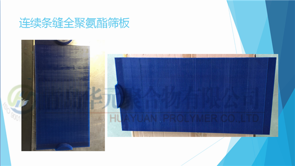 连续条缝全聚氨酯筛板